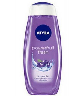 NIVEA Powerfruit Fresh Shower Gel FREE Loofah (Ltd Offer)