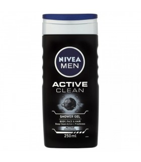 NIVEA men active charcoal shower gel free loofah ltd offer