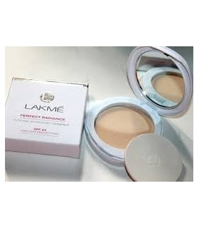 LAKME perfect radiance intense whitening compact spf 23 ivory fair 01
