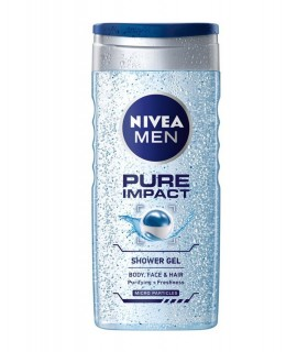 NIVEA Men Pure Impact FREE Loofah (Ltd Offer)