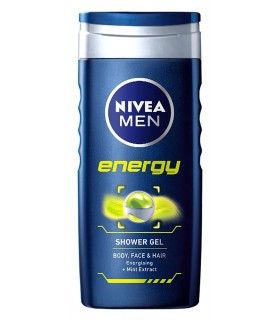NIVEA Men Energy Shower Gel Free Loofah (Ltd Offer)
