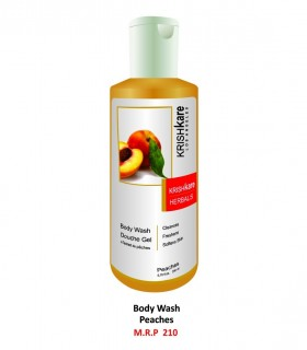 Krishkare Body Wash Douche Gel Mix Fruits Cleanses, Freshens, Softens Skin.