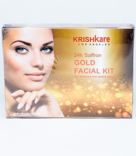 Krishkare 24k Saffron Gold Facial Kit