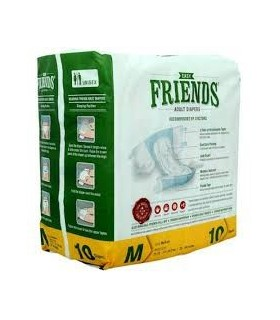 FRIENDS DIAPER MEDIUM SIZE 10 PCS