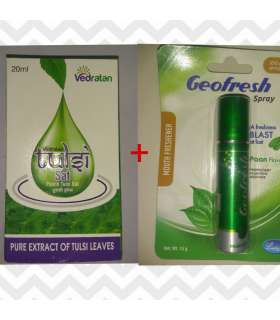 VEDRATAN TULSI SAT+ GROFRESH SPRAY COMBO