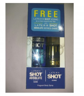LAYER'R SHOT ABSOLUTE GAME + LAYER'R SHOT ICONIC 50ML FREE